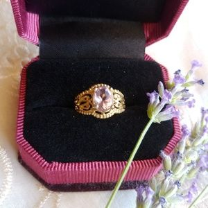Gold and Amethyst Filagree Ring